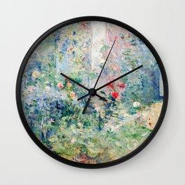 Berthe Morisot - The Garden at Bougival Wall Clock