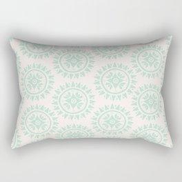 Bohemian Medallions - Light blue and cream pattern Rectangular Pillow