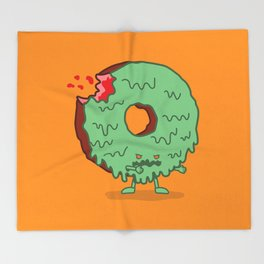 The Zombie Donut Throw Blanket