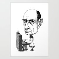 arnold Art Prints featuring Arnold Schoenberg by Gareth Southwell