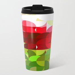 Red Rose with Light 1 Abstract Circles 1 Travel Mug