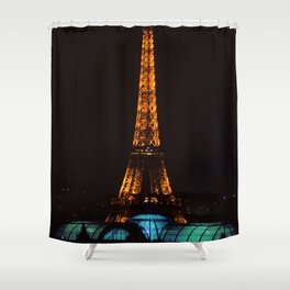 Happenings at a Parisian spaceport Shower Curtain