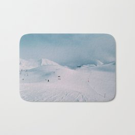 Skiing in the Alps Bath Mat