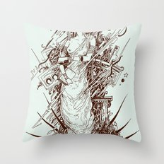des cartisae Throw Pillow