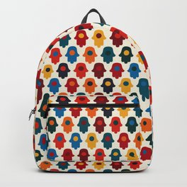 Colorful Tiny Hamsa Pattern Backpack