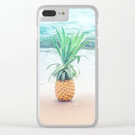 Happy Pineapple Clear iPhone Case