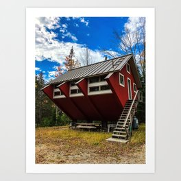 Unique Cabin in Maine Art Print