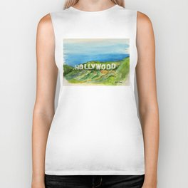 Hollywood Sign - An American Cultural Icon Biker Tank