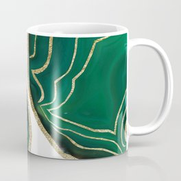 Emerald Agate Gold Glam #1 #gem #decor #art #society6 Coffee Mug