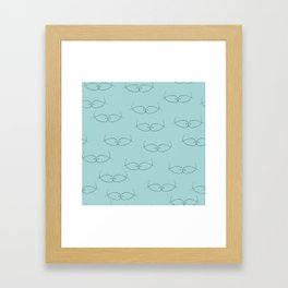 Seeing Blue Green Kissing Fish Framed Art Print