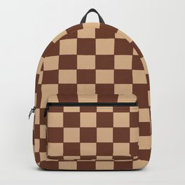 Checkers - Brown and Beige Backpack