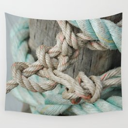 TIED TO THE MOORING #1 Wall Tapestry