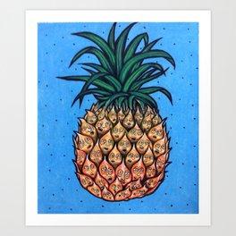 Moody Pineapple Art Print