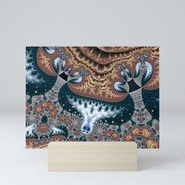 Trees in Meditation Fractal Mini Art Print