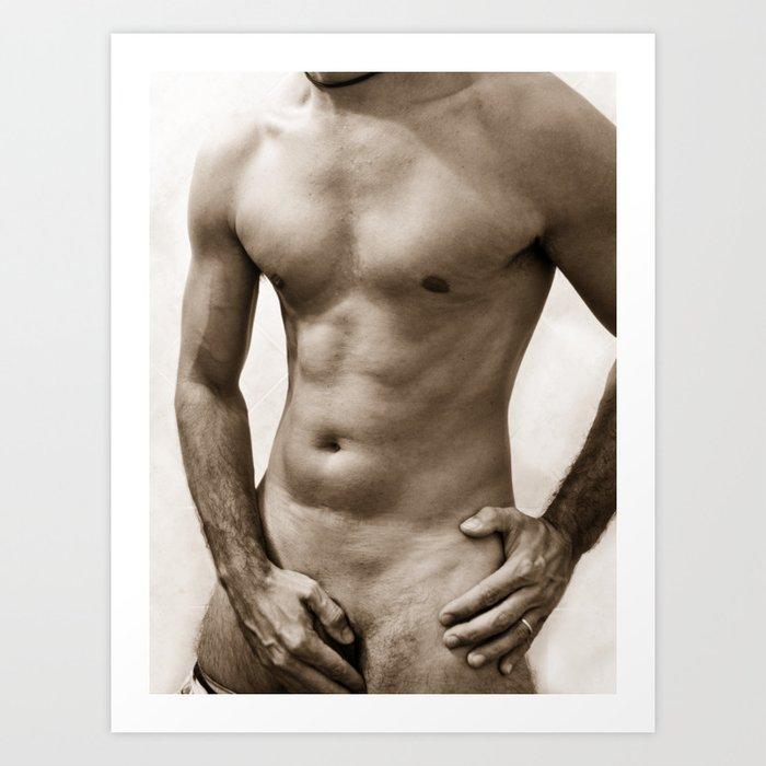 Sexy Man Body Art Print By Johnbfrogg