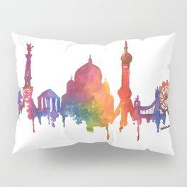 Rainbow Watercolour Monuments Pillow Sham