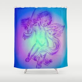 Heavenly apparition  Angel Music Shower Curtain