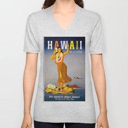 Vintage poster - Hawaii Unisex V-Neck