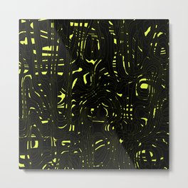 Dark spots on marble dust with volcanic yellow tints. Metal Print