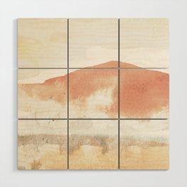 Terra Cotta Hills Abstract Landsape Wood Wall Art