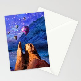 Mountain Tops Misty And Blue, A Light In Search Of Something New Stationery Cards
