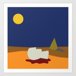 Tell it to the Moon Art Print