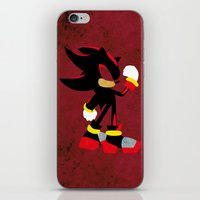 shadow iPhone & iPod Skins featuring Shadow by JHTY