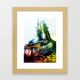 The Other Side of the Clock Framed Art Print