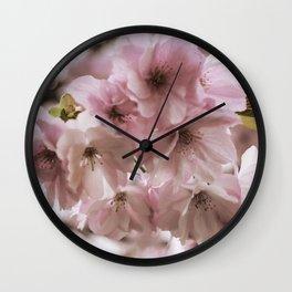 Double-flowered cherry tree Wall Clock
