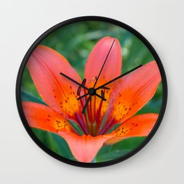 Lily Flower Wall Clock