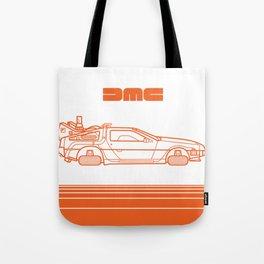 Back To The Future - Delorean - Stroke Tote Bag