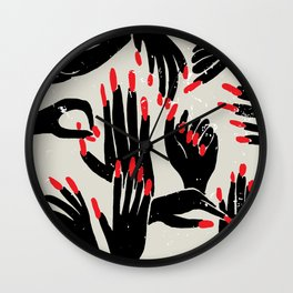 hands, fingers, nails & fingernails Wall Clock