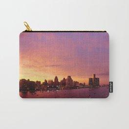 Detroit Skyline Sunset Carry-All Pouch
