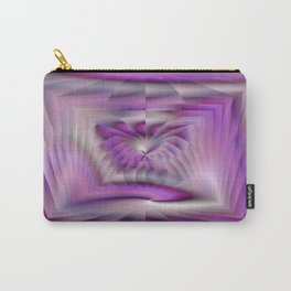 Purple Pleated Spiral Carry-All Pouch