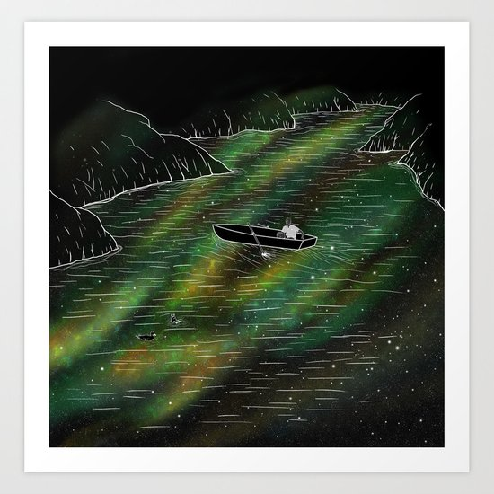 The Space Ship Art Print