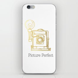 Gold Vintage Camera Picture Perfect  iPhone Skin