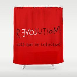 re-love-ution Shower Curtain