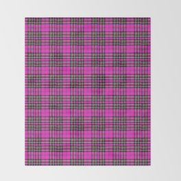 Vintage Lunchbox Design in Magenta Throw Blanket