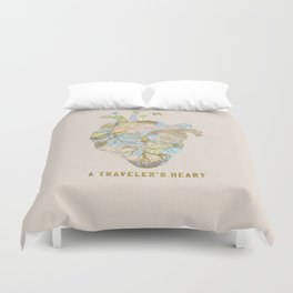A Traveler's Heart Duvet Cover