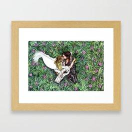 Captain Swan Middlemist Scene Framed Art Print