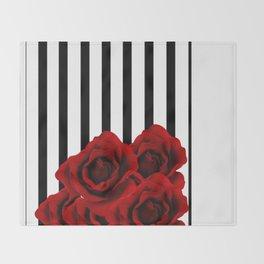 Prohibited roses Throw Blanket
