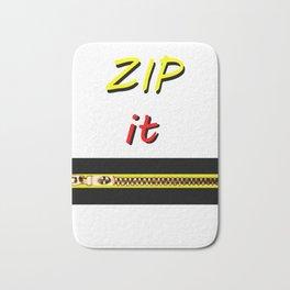 Zip it Black Yellow Red jGibney The MUSEUM Gifts Bath Mat