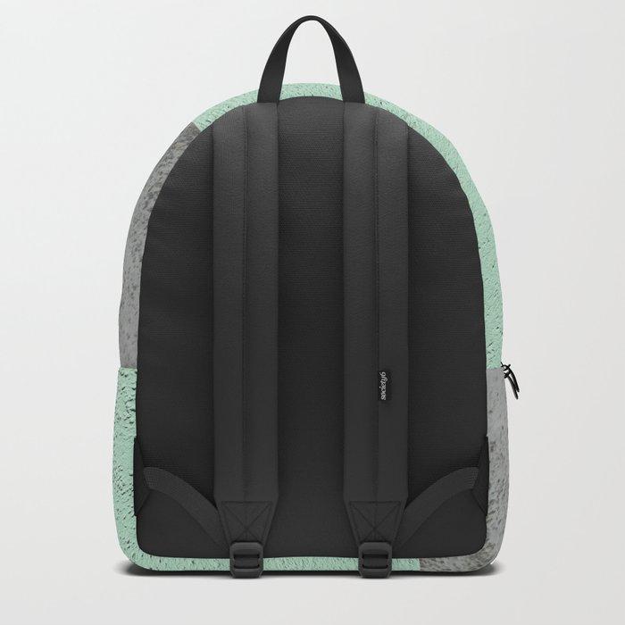 MINT COPPER GRAY GEOMETRIC PATTERN Backpack