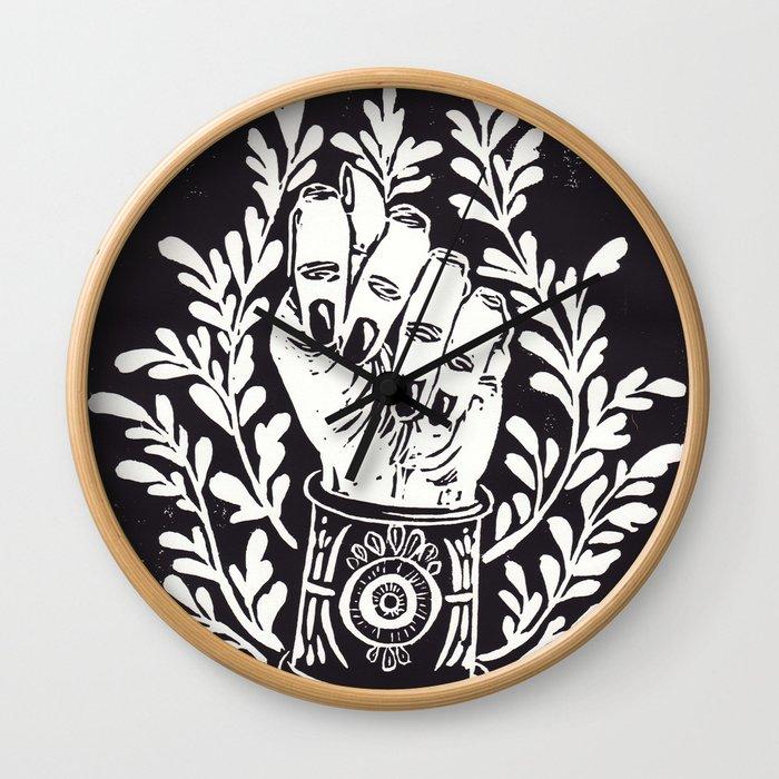 Mano Fica Wall Clock