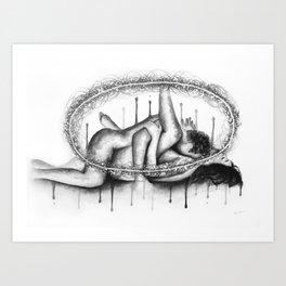 Animus Anima b&w Art Print
