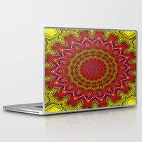 mandela Laptop & iPad Skins featuring Colored Mandela by LEEMARIE
