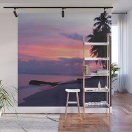 Island sunset Wall Mural