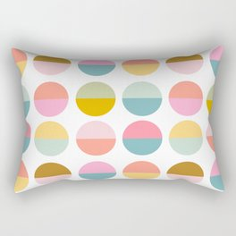 Colorful and Bright Circle Pattern Rectangular Pillow