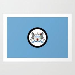 Flag of Botswana Art Print
