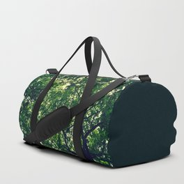 In the woods the light through leaves Duffle Bag